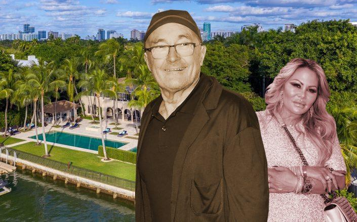 Phil Collins is in contract to sell his waterfront Miami Beach mansion amid a legal battle with his ex-wife, Orianne Bates. (Getty, Coldwell Banker Realty)