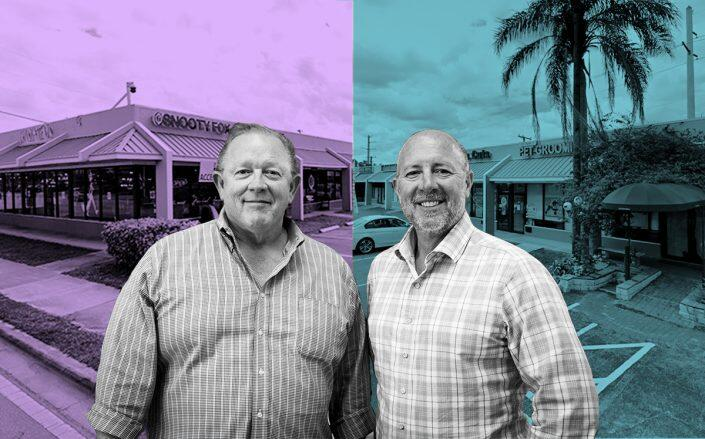 Steven Hudson and Charles Ladd with 830 and 840 East Oakland Park Boulevard (Google Maps)