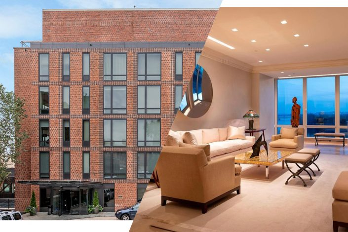 The penthouse at 3150 South Street in Washington, D.C. (Photos via Redfin; Homevisit)
