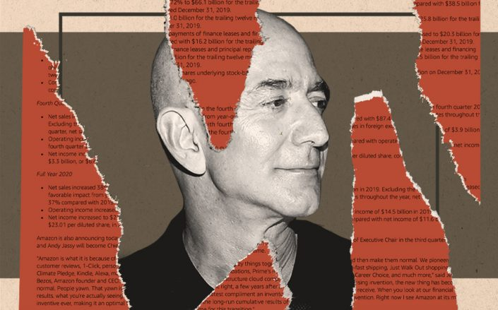 Jeff Bezos (Getty, Amazon/Illustration by Alexis Manrodt for The Real Deal)