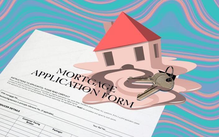Mortgage index tracking applications for home purchases have decreased by 5 percent.  (iStock)