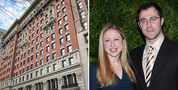 From left: Grand Madison, Chelsea Clinton and Marc Mezvinsky