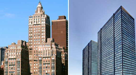 From left: River House and 860 and 870 United Nations Plaza
