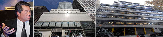From left: SL Green's Marc Holliday, 315 West 33rd Street and 333 West 34th Street