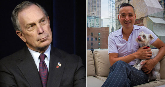 From left: Mayor Bloomberg and Smart Aparent parent company Toshi Inc's Robert Chan