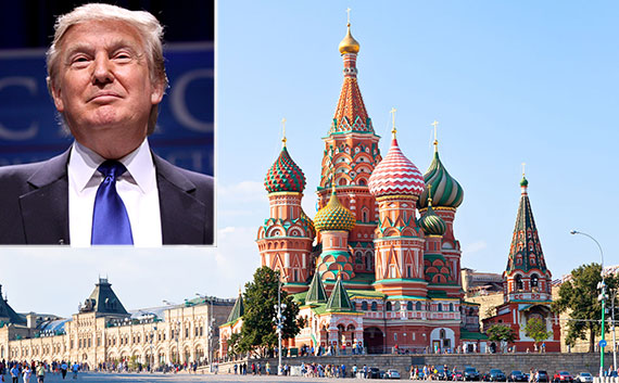 From left: Donald Trump and Moscow's