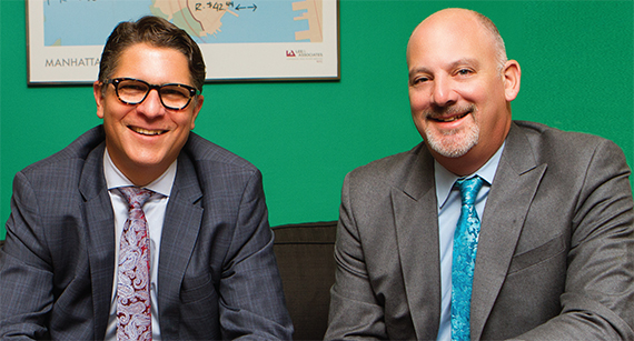 From left: James Wacht and Peter Braus of Lee & Associates