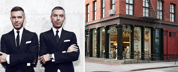 From left: Dean and Dan Caten and 402 West Broadway in Soho