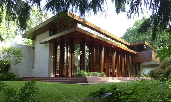 The Frank Lloyd Wright-designed Bachman Wilson House in Somerset County, N.J.