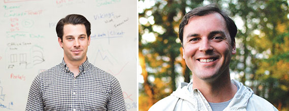From left: View the Space's Nick Romito and Honest Buildings' Riggs Kubiak