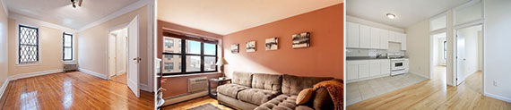 From left: Listings at 25 Crown St. in Crown Heights, 567 39th St. in Sunset Park and 68 Garden St. in Bushwick