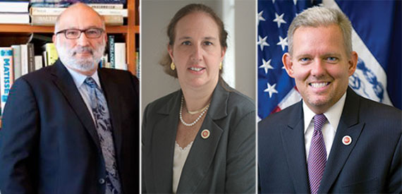 From left: TF Cornerstone's Frederick Elghanayan, Gale Brewer and Jimmy Van Bramer