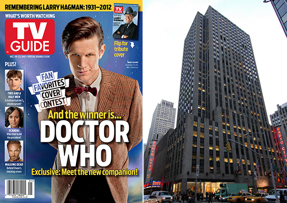From left: TV Guide and 50 Rockefeller Plaza