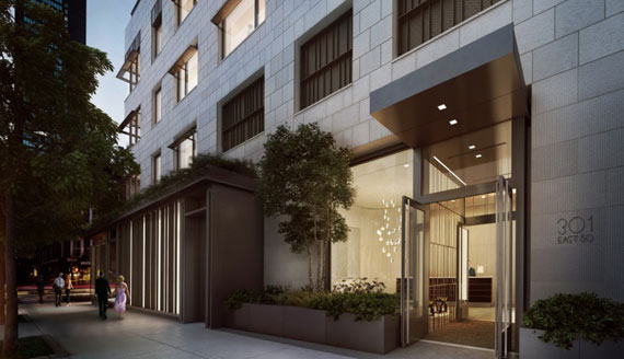 A rendering of 301 East 50th Street