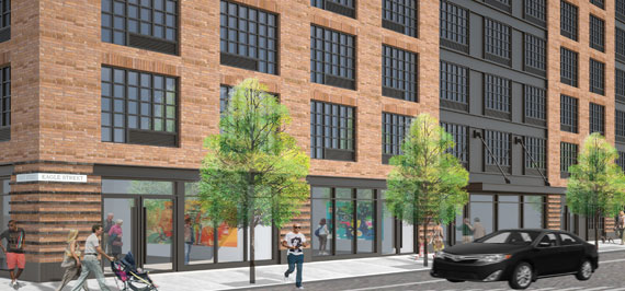 A rendering of 21 Commercial Street