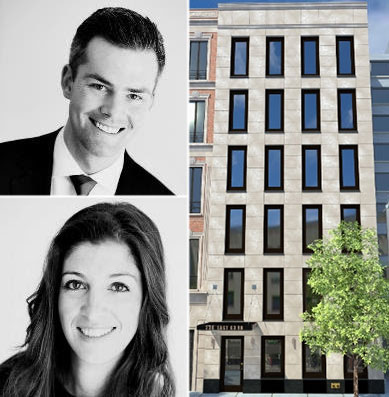 From top left: Ryan Serhant, 230 East 63rd Street and Jenna Amicucci