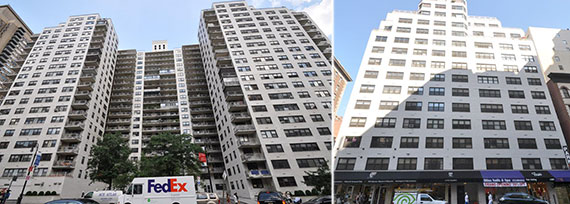 From left: 305 East 86th Street and 160 East 88th Street