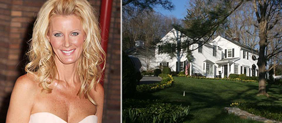 From left: Sandra Lee and the Cuomo home in Westchester County