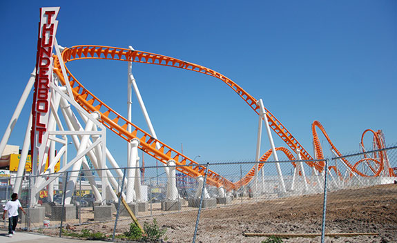 Thunderbolt roller coaster in Coney Island