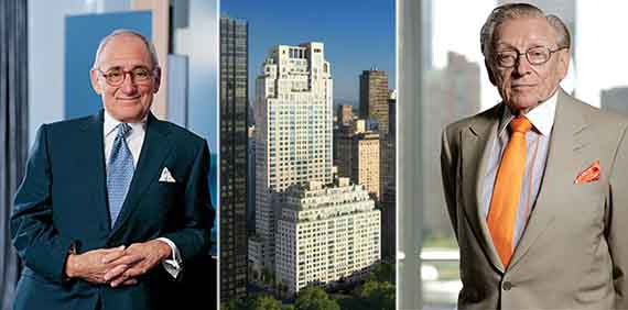 From left: Robert A. M. Stern, 15 Central Park West and Larry Silverstein