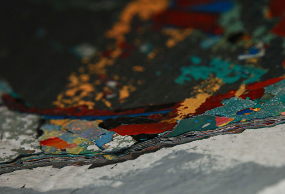 Up close and personal with peeling paint at 5Pointz in Long Island City (Credit: Jaime Rojo)