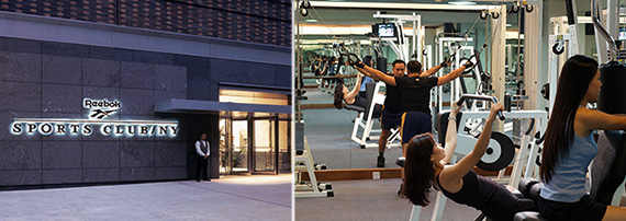 From left: NY Sports/Reebok on the Upper West Side and the interior of an Equinox gym