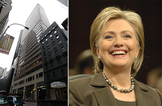 120 West 45th Street and Hillary Clinton