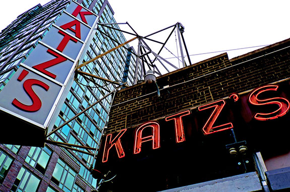 Katz's Deli at 205 E. Houston Street (Credit: Samuel Lozeau on Flickr)