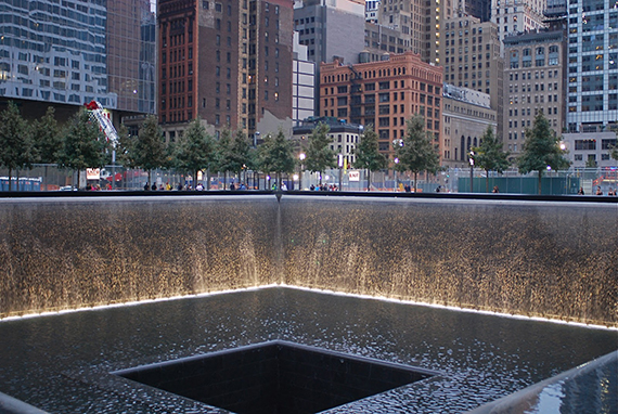 The 9/11memorial plaza
