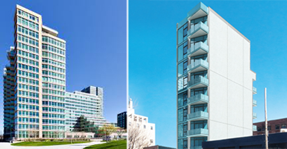 From left: The View and The Madison, two luxury developments in Long Island City