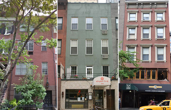 Bed and breakfasts at 158 West 13th Street, 230 East 58th Street and 131 West 23rd Street
