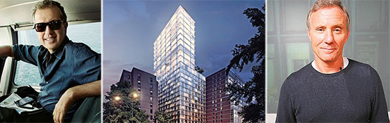 From left: Mario Testino, 215 Chrystie Street rendering and Ian Schrager