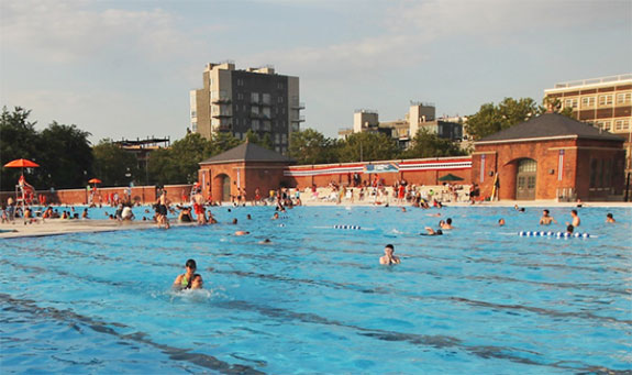 Swimmers are finding the crowds a little thinner at the McCarren Park Pool and others this summer.