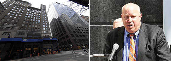 From left: MTA headquarters on Madison Avenue and MTA Chairman Thomas Prendergast