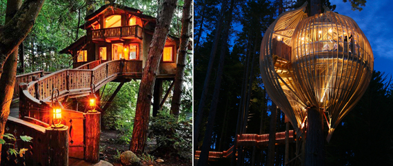 Two tree houses that put many New York apartments to shame