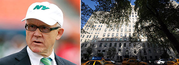 From left: Woody Johnson and 834 Fifth Avenue