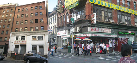 From left: 108 Charlton Street and Kong Kee Food Corp.