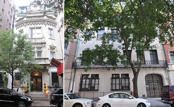 From left: 24 East 81st Street and the Harkness Mansion on East 75th Street