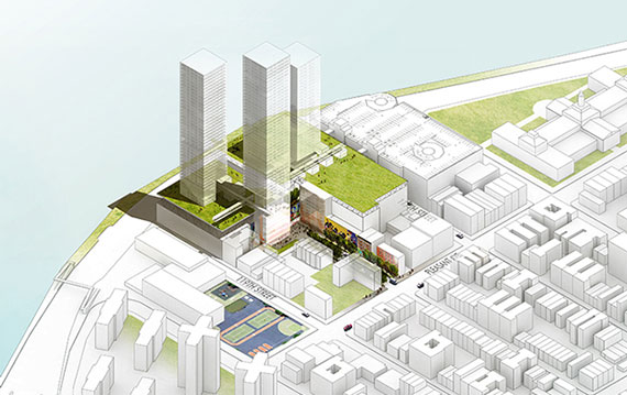 Rendering of East River Plaza