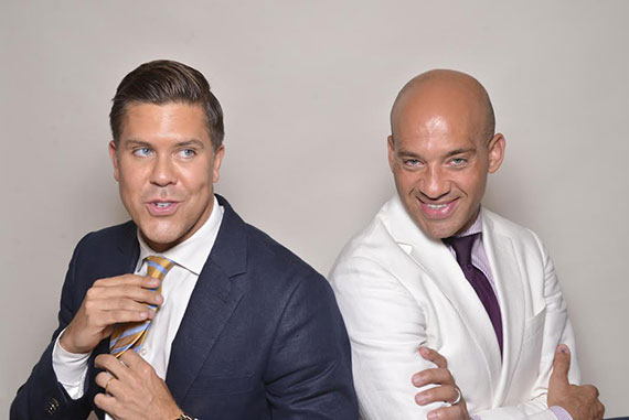 From left: Fredrik Eklund and John Gomes