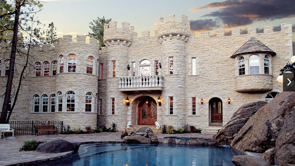 A castle home in the San Bernardino Mountains