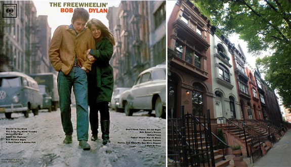 "Jones Street as featured on Bob Dylan's ""The Freewheelin'"" and Arlington Place in Bed-Stuy"
