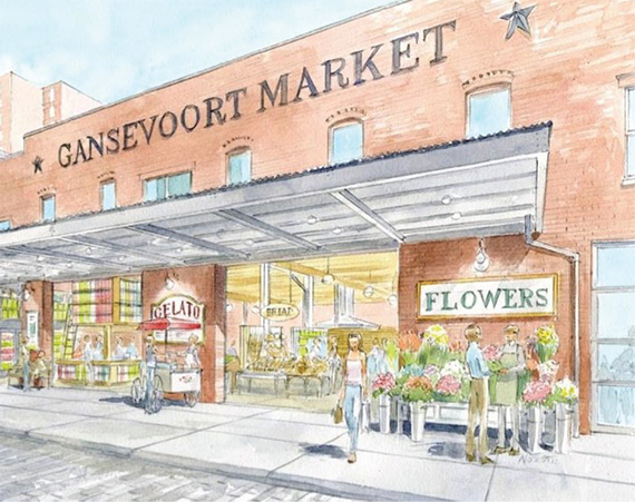 An illustration of the relaunched market
