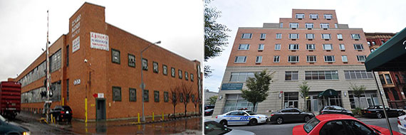 From left: 56-02 Maspeth Avenue in Queens and 2283-2287 Third Avenue in East Harlem
