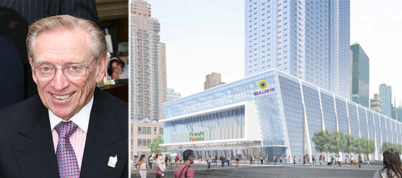 Fron left Larry Silverstein and a potential rendering for 514 11th Avenue