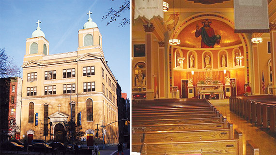 St. Joseph's in Chinatown (photos above) is slated to merge with the Church of the Transfiguration a few blocks away. The parish already has another church, St. James, that was combined in an earlier reorganization.