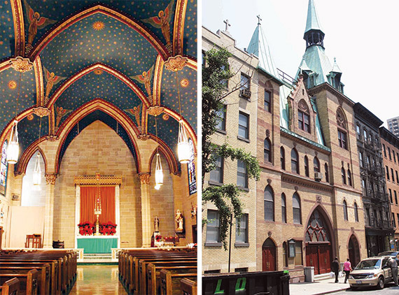 St. Elizabeth of Hungary on East 83rd St. (photos above) is slated to merge with St. Monica four blocks south.