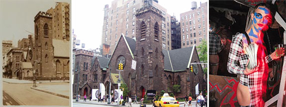 The former Church of the Holy Communion on Sixth Avenue and 20th Street and club kid Michael Alig