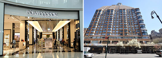 From left: 2085 Broadway and a Bloomingdale's location