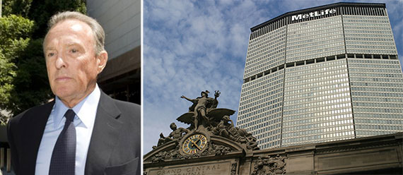 From left: David Bren and the MetLife Building at 200 Park Avenue